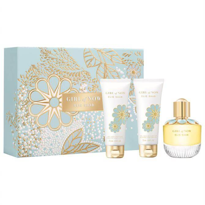 Elie Saab Girl of Now Christmas Set - Girl of Now Eau de Parfum 50ml + Body Lotion 75ml + Shower Gel 75ml
