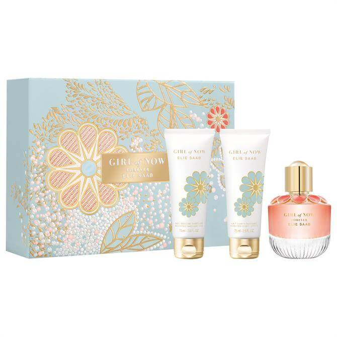 Elie Saab Girl Of Now Forever Christmas Set - Girl Of Now Forever Eau de Parfum 50ml + Girl of Now Body Lotion 75ml + Girl of Now Shower Gel 75ml