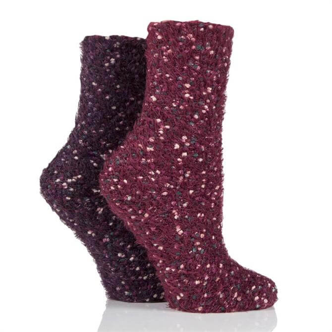 Elle Popcorn Feather 2pk Socks