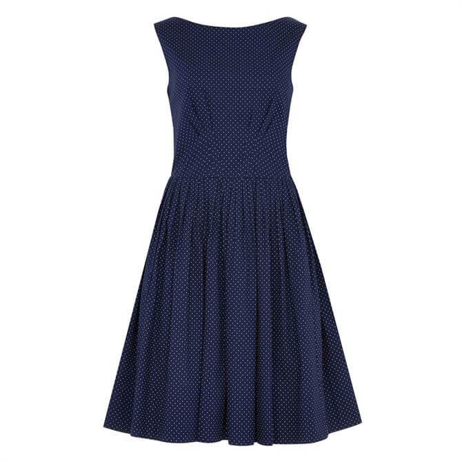 Emily and Fin Abigail Navy Pin Dot Dress