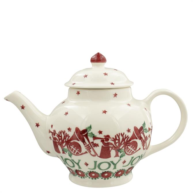 Emma Bridgewater Joy Trumpets 2 Mug Teapot