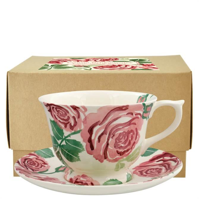 Emma Bridgewater Pink Roses Large Teacup & Saucer