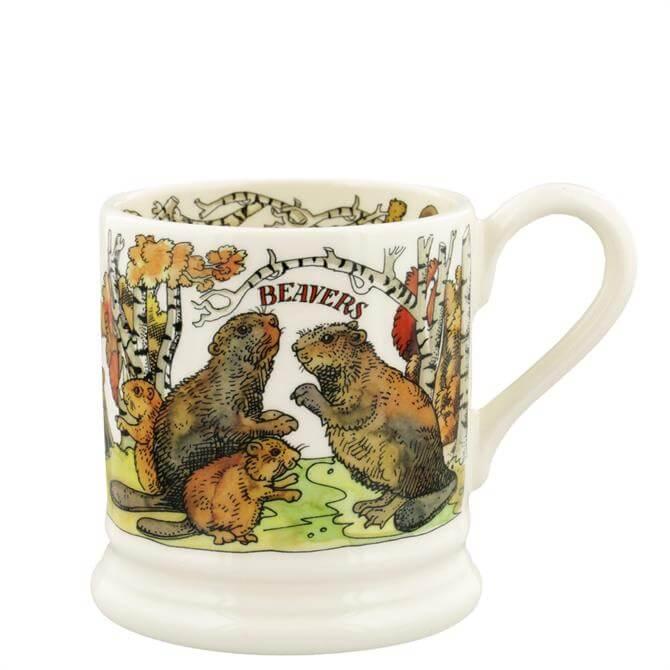 Emma Bridgewater Beavers Half Pint Mug