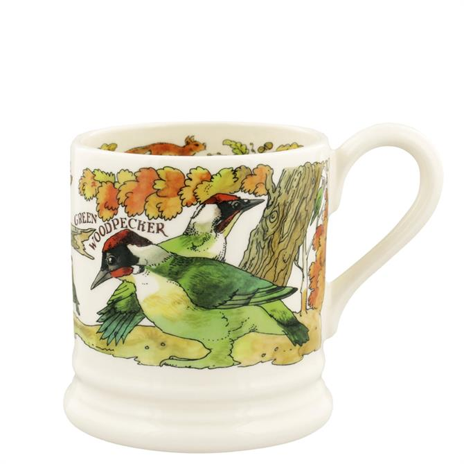 Emma Bridgewater Green Woodpecker & Red Squirrel Half Pint Mug