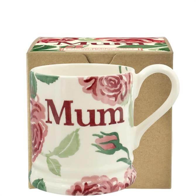 Emma Bridgewater Pink Roses Mum Half Pint Mug