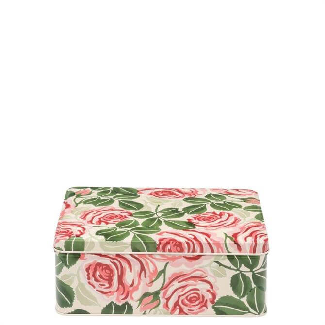 Emma Bridgewater Pink Roses Deep Rectangular Tin