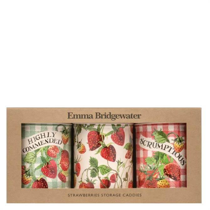 Emma Bridgewater Vegetable Garden Strawberries Set of Three Tin Caddies