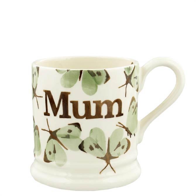 Emma Bridgewater Green Cabbage White Butterfly Mum Half Pint Mug