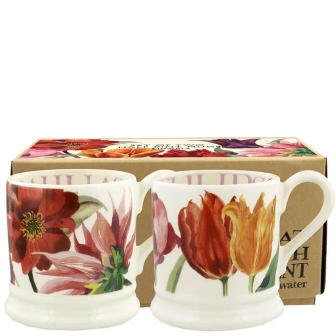 Emma Bridgewater Flowers Set of 2 Half Pint Mugs