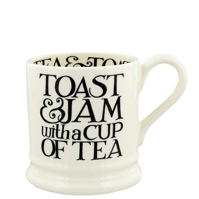Emma Bridgewater Black Toast Toast & Jam Half Pint Mug