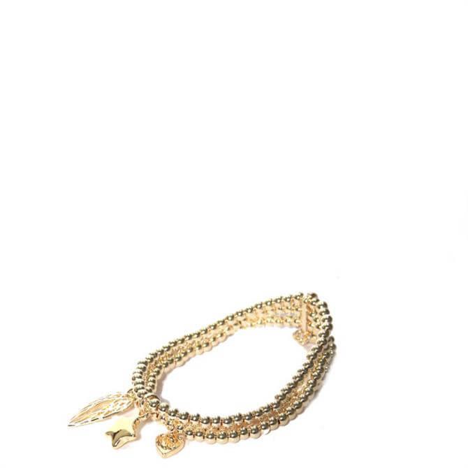 Envy Golden Triple Charm Bracelet