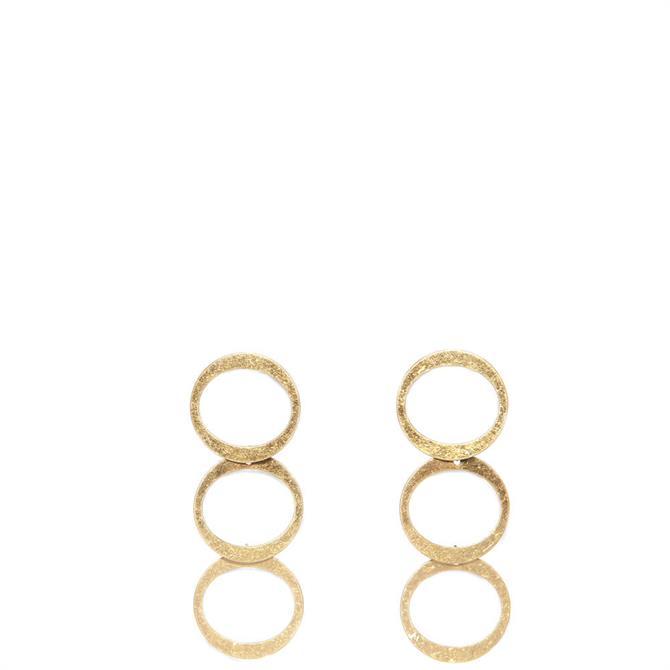 Envy Golden Triple Drop Earrings