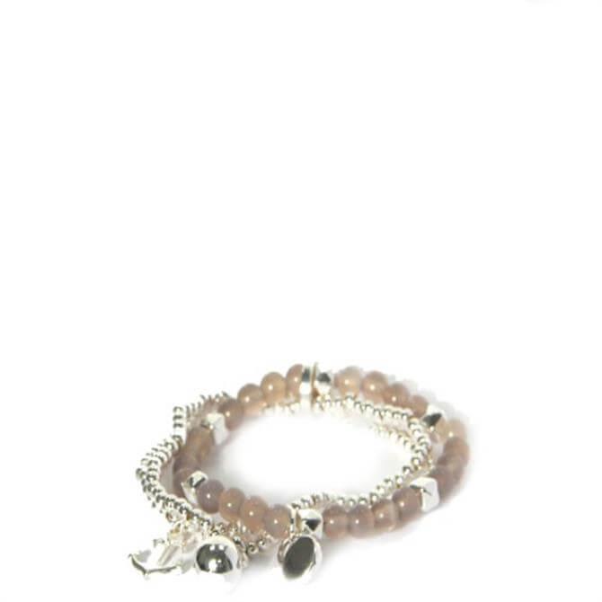 Envy Silver Triple Layered Stetch Bracelet