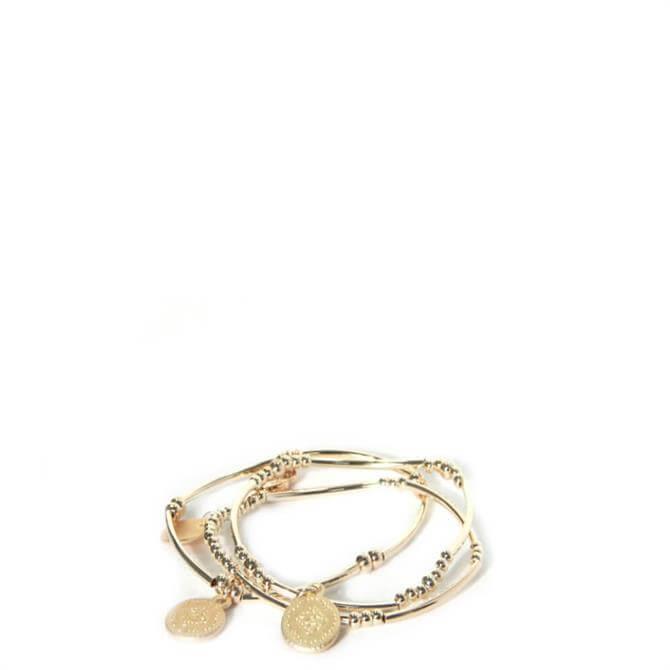 Envy Golden Disc Bracelet