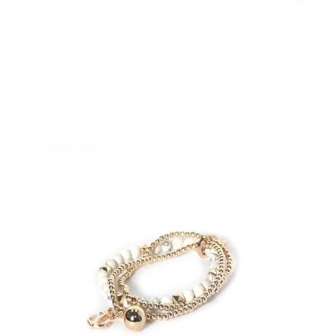 Envy White & Golden Beads Bracelet