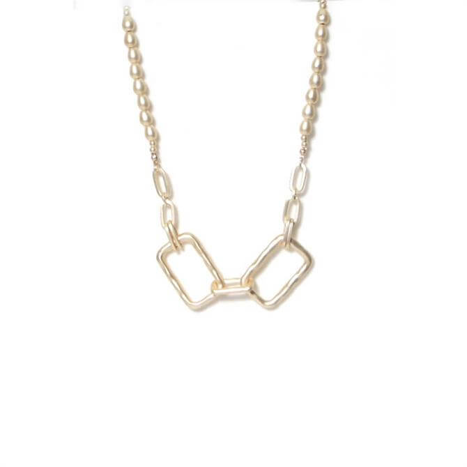 Envy Golden Rectangle Link Short Necklace