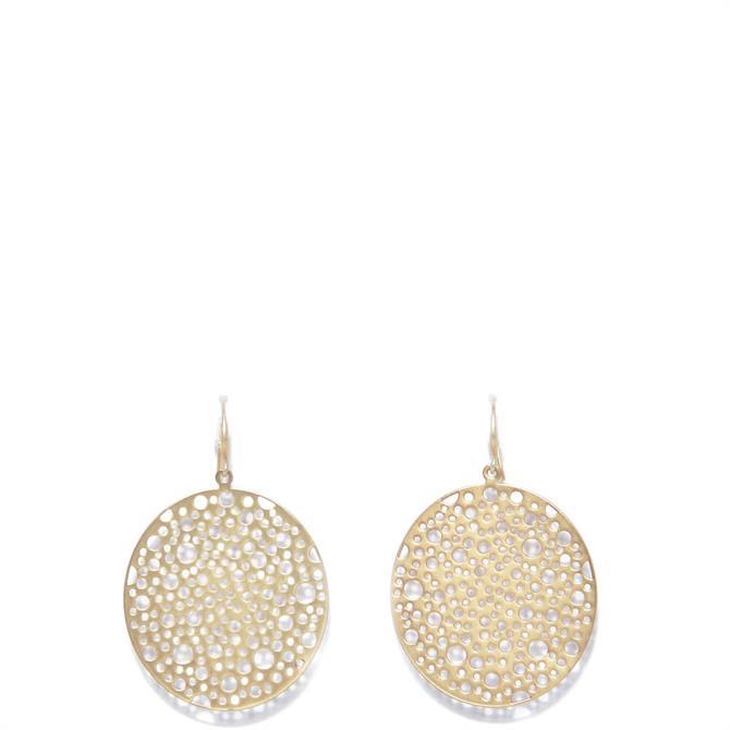 Envy Large Textured Golden Disc Earrings