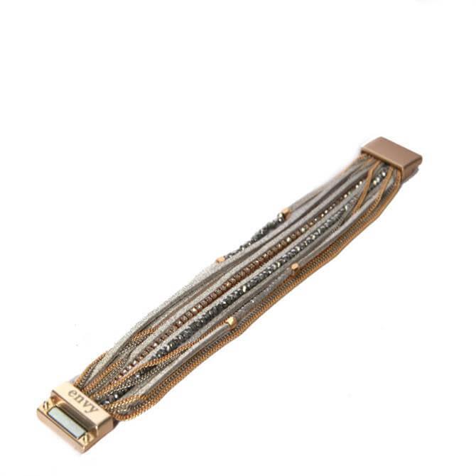 Envy Multi Strand Magnetic Clasp Bracelet