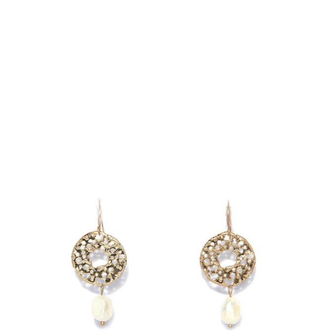 Envy Golden Faux Pearl Drop Earrings