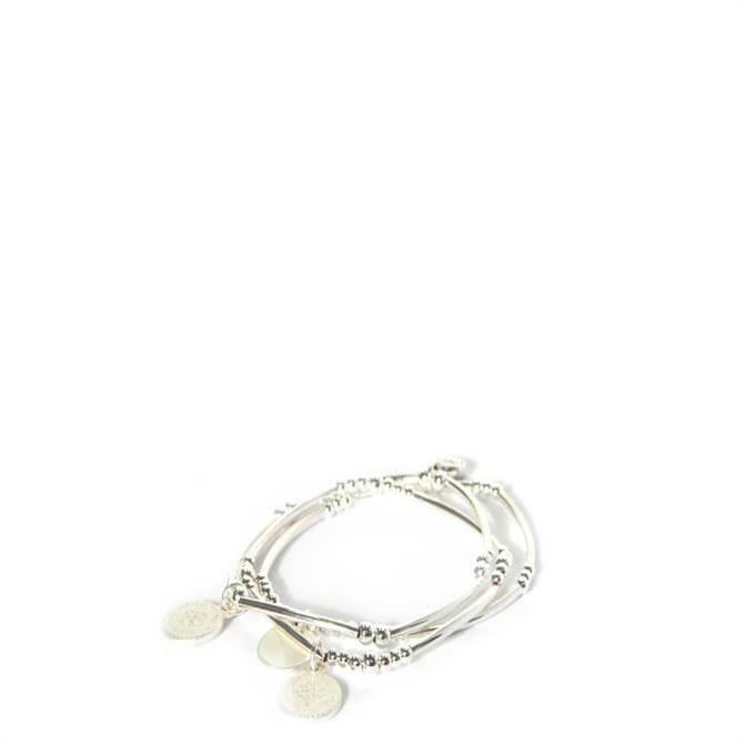Envy Silver Disc Bracelet