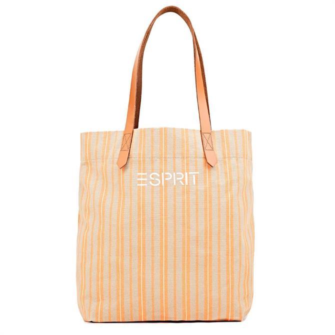 Esprit Striped Canvas Tote Bag