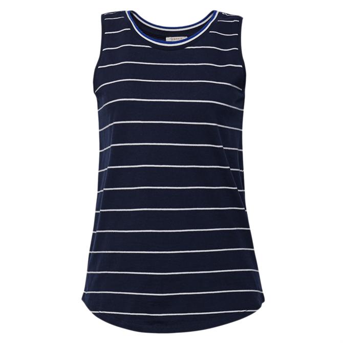Esprit Sleeveless Striped Cotton Top