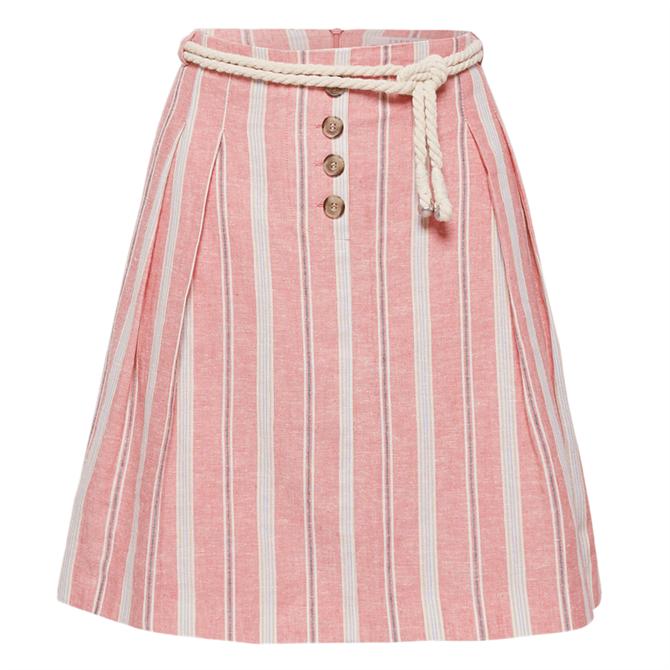 Esprit Striped Linen Blend Skirt