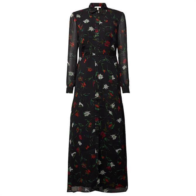 Esprit Sustainable Floral Print Maxi Shirt Dress