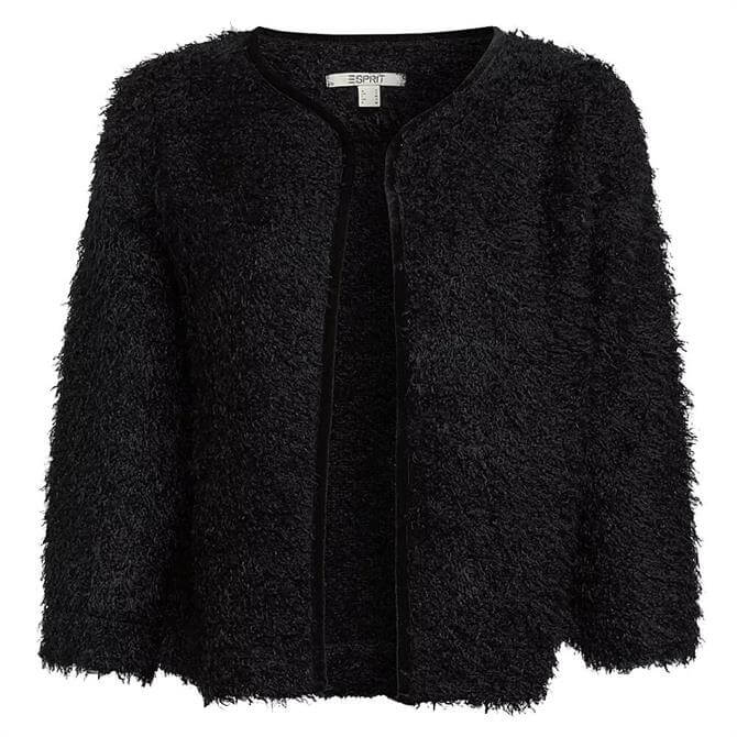 Esprit Fluffy Open Front Cardigan