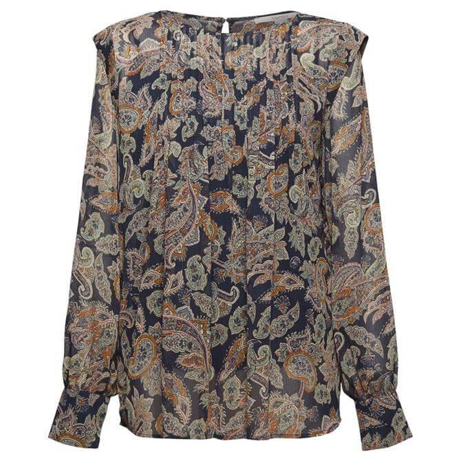 Esprit Recycled Chiffon Paisley Print Blouse
