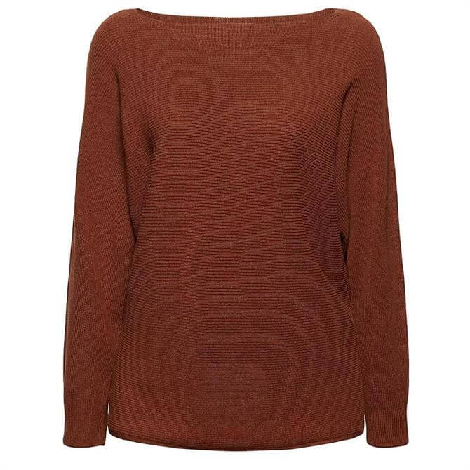 Esprit Ribbed Batwing Boat Neck Sweater