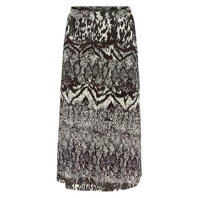 Esprit Animal Print Pleated Skirt