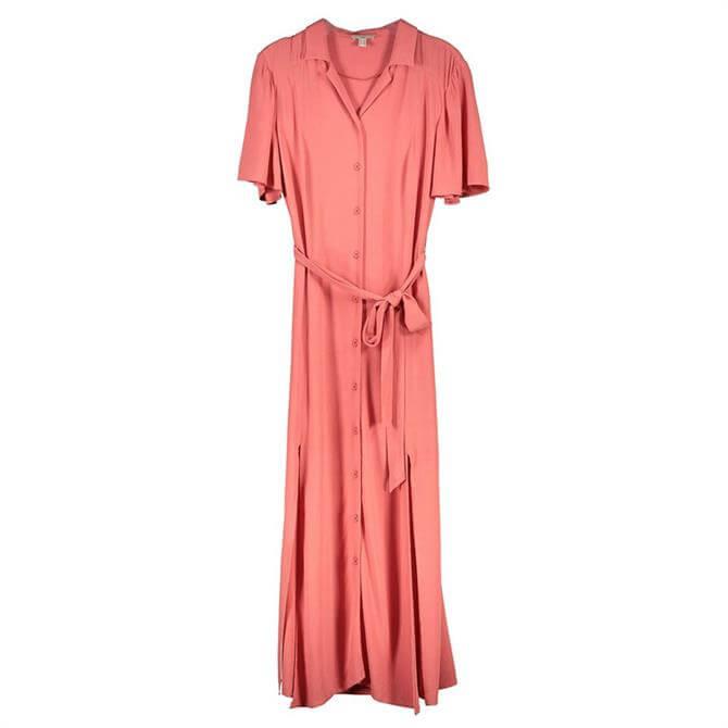 Esprit Maxi Belted Shirt Dress