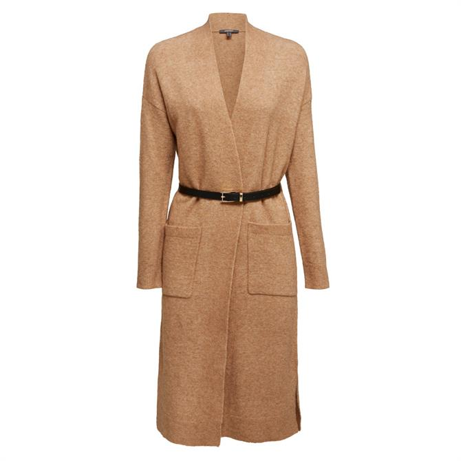 Esprit Wool Blended Belted Long Cardigan