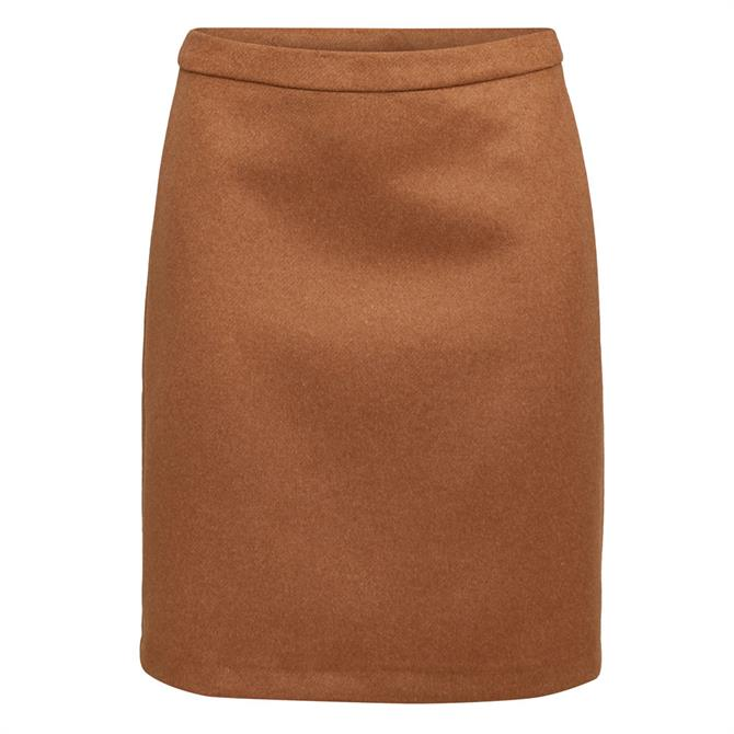 Esprit Blended Wool Mini Skirt