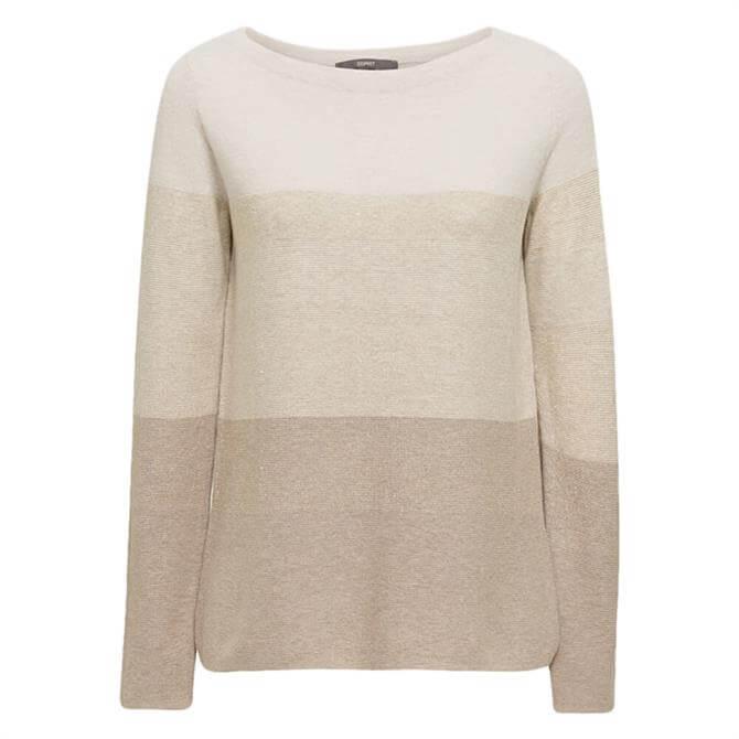 Esprit Block Stripe Glitter Sweater
