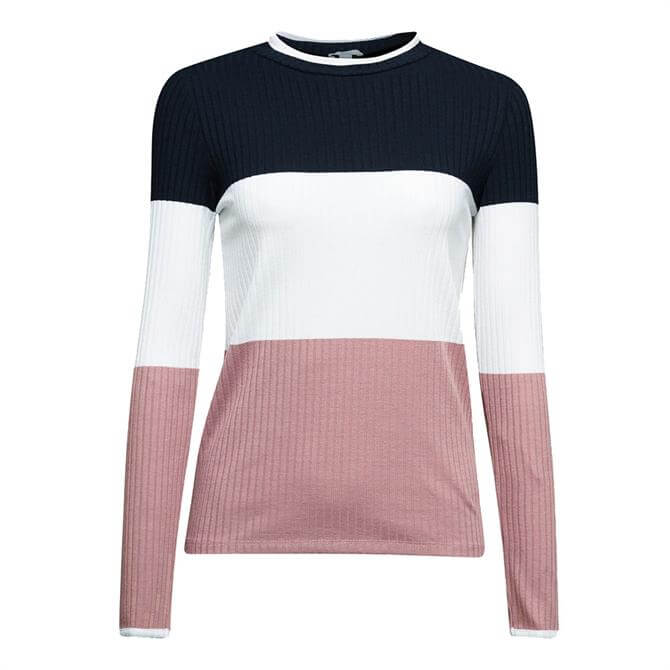 Esprit Colour Block Long Sleeved Top