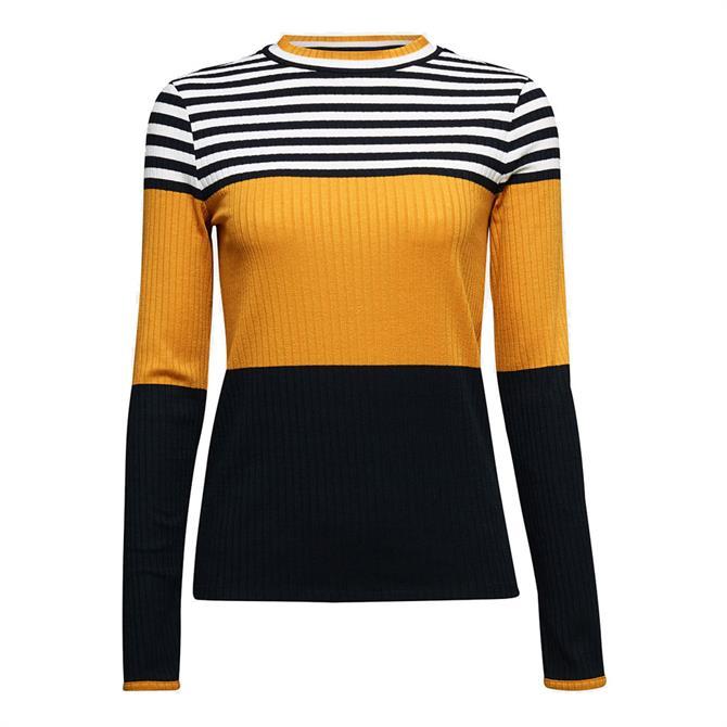 Esprit Colour Block Long Sleeved Top