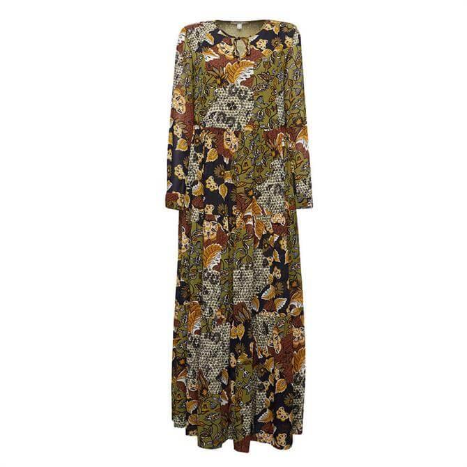 Esprit Printed Flowing Maxi Dress