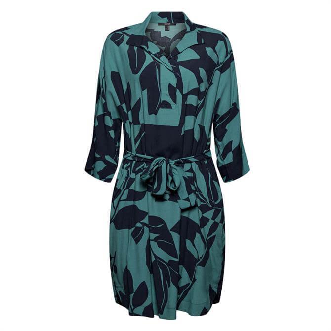 Esprit Botanical Print Kimono-Style Dress