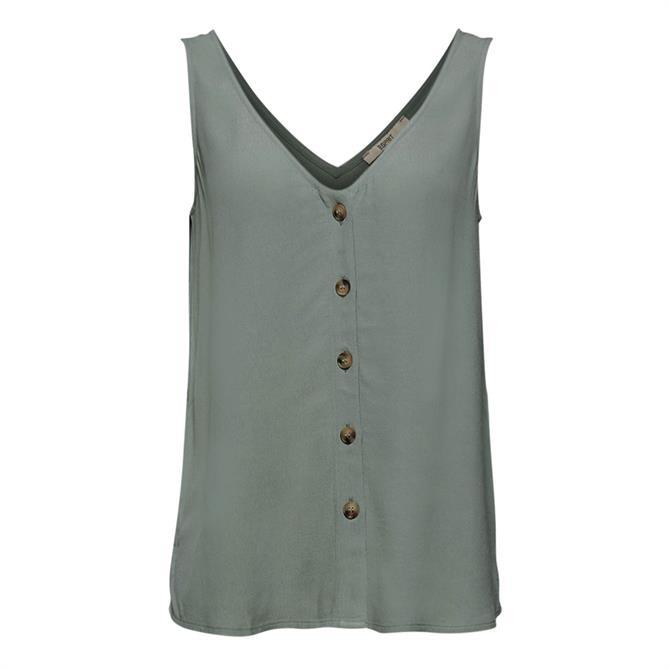 Esprit Buttoned Sleeveless Top