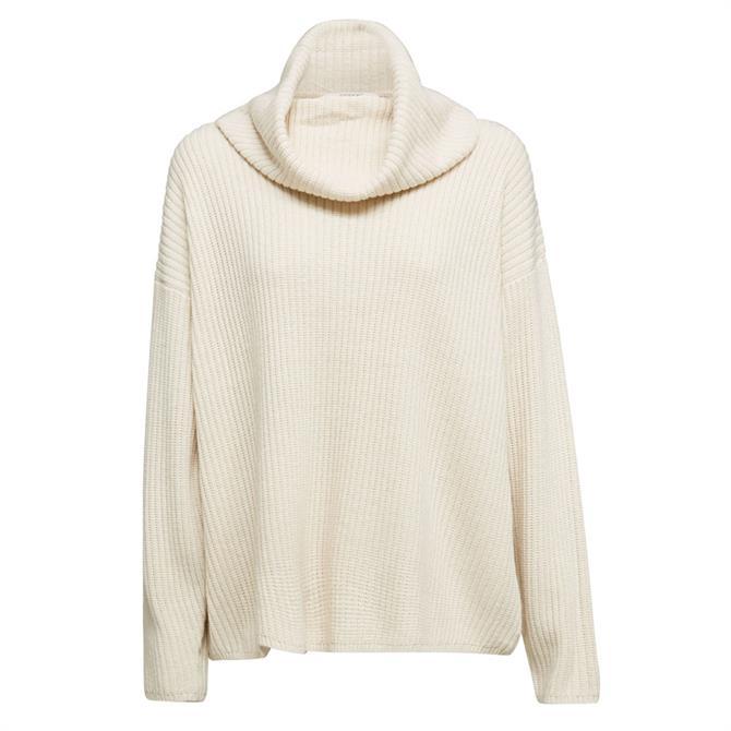 Esprit Oversized Polo Neck Sweater