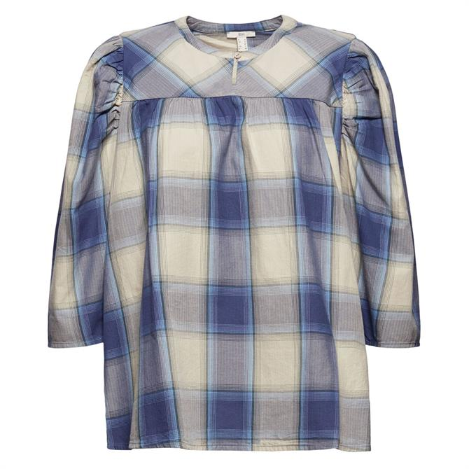 Esprit Check Pattern Woven Blouse