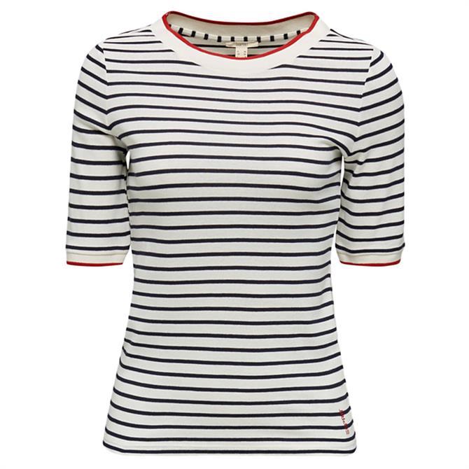 Esprit Contrast Border Striped T-Shirt