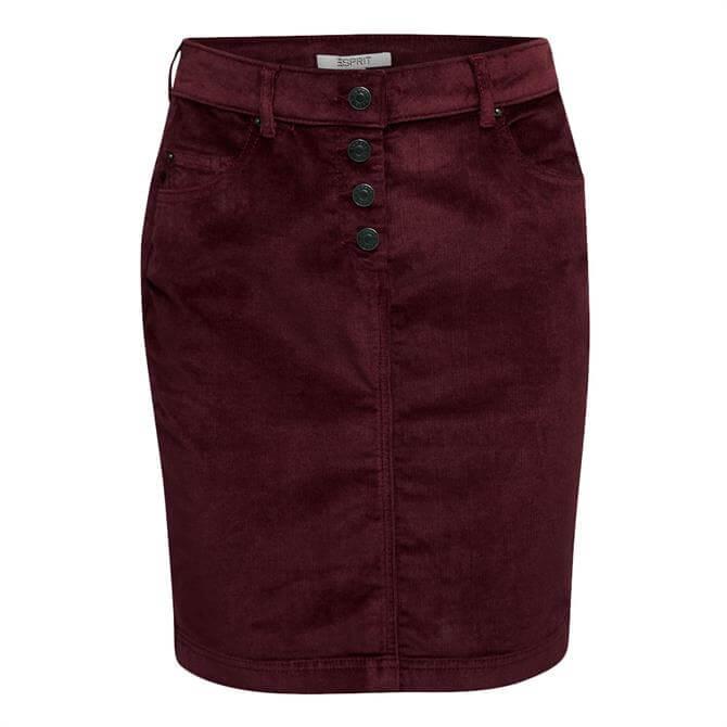 Esprit Corduroy Five Pocket Mini Skirt