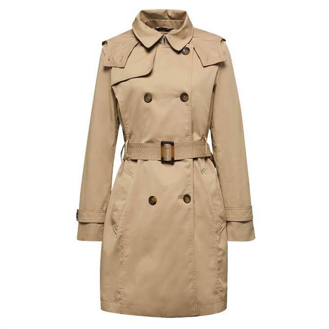 Esprit Cotton Blend Trench Coat