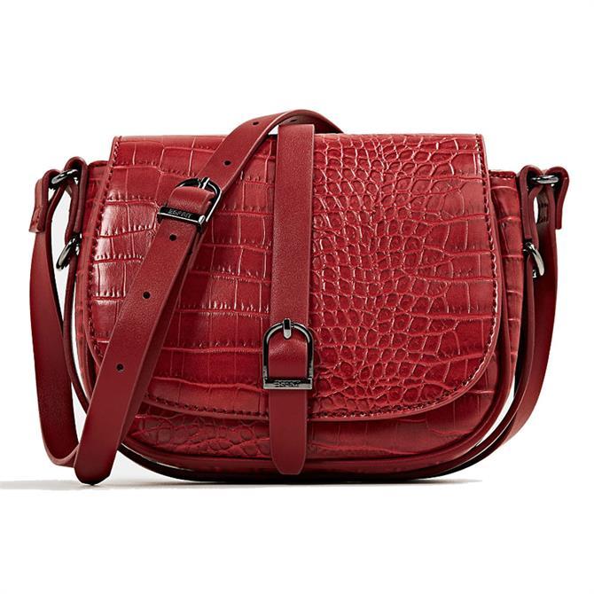 Esprit Croc Saddle Bag