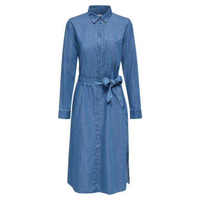 Esprit Tie Belt Denim Shirt Dress