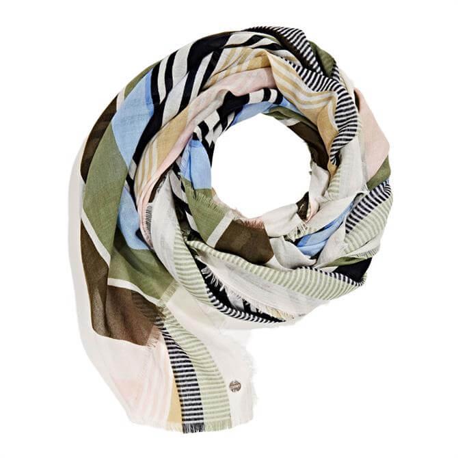 Esprit Diagonal Striped Scarf