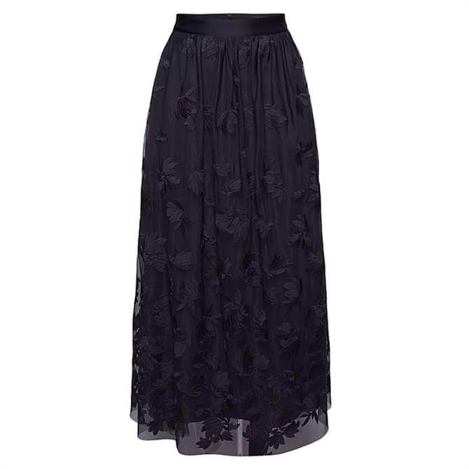 Esprit Embroidered Tulle Maxi Skirt